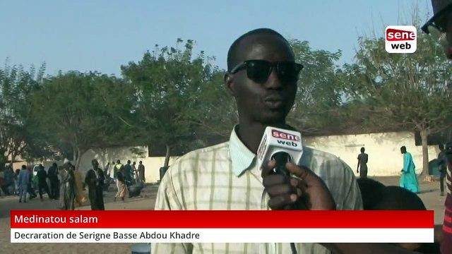 Medinatou salam : déclaration Sergine basse Abdou Khadre