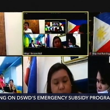 House hearing on DSWD's emergency subsidy program