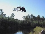 bmx water jump , Landes.
