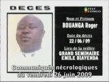 Communiqués nécrologiques du 26-06-09