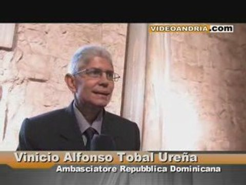 L'ambasciatore della Repubblica Dominicana ad Andria