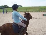 Justine fait du poney