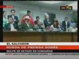 Presidente Zelaya en mensaje desde El Salvador