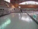 Laurent Tobel sur patinoire Ecogliss + patins classiques