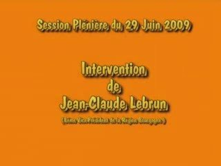 Intervention Jean-Claude Lebrun