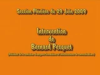 Intervention Bernard Pesquet