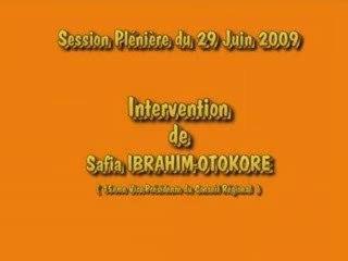 Intervention Safia Otokoré