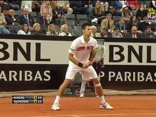 [HD] SET1 Rafael Nadal vs Novak Djokovic FINAL ROMA 2011 [Video Resumen - Long Highlights]