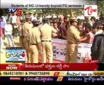 OU and MG university students boycott semester exams over Telangana issue