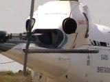 hélicoptère samu decollage-plage-kerlouan.