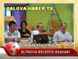 ALTINOVA BELEDİYE BAŞKANI METİN ORAL BASIN TOPLANTISI DÜZENLEDİ