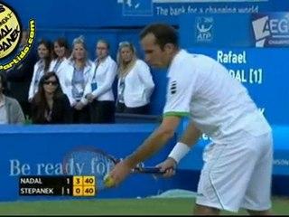 Rafael Nadal vs Radek Stepanek R3 QUEENS 2011 [Hot Shots by Courtyman]