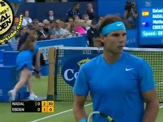 [HD] Rafael Nadal vs Matthew Ebden R2 QUEENS 2011 [Hot Shots by Courtyman]