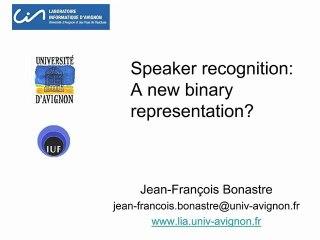 Advances in Speech Technologies | IRCAM | Jean-François Bonastre