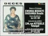 Communiqués nécrologiques du 28-07-09