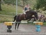 Zora, saut en liberté, à cheval