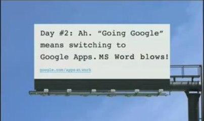 Gone Google - Google Apps Billboards Preview SPOOF