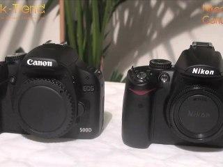 Comparatif Canon 500D contre Nikon D5000 par Geek-Trend