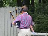Pops, Audrey and the bagpipes