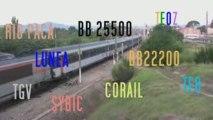 42. TRAINS ET TGV DANS LE SUD ... VI ...