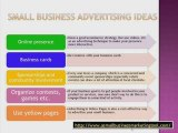 Business Marketing - Advertising Ideas For Small Business