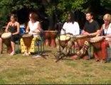 Fourmies -un morceau de djembé par l'atelier de percussions