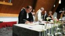 Mariage Elodie et Fabien : signature des registres