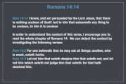 Understanding Romans 14:14: Nothing Unclean of Itself?