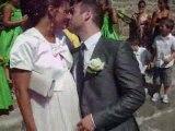 Sortie des mariées de l'église - Vive la lavande !