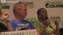 Christiane Taubira aux journées d'été des Verts