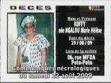 Communiqués nécrologiques du 22-08-09