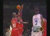 Kobe Bryant Blocks Jordan in 03 ASG, basketball, nba