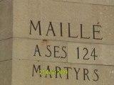 Cérémonie du massacre de Maillé 25 Août 2009