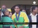 Retour de Caster Semenya en Afrique du Sud