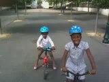 Fabienne vélo à 2 roues pour la 1er fois