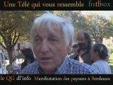 manifestation de la confédération paysanne à Bordeaux