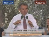 le discours de clôture de François Bayrou