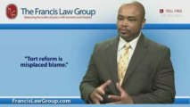Orlando Accident Lawyer Says Tort Reform is Misplaced Blame