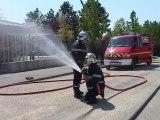 Manoeuvre: exercice d'incendie à la crèche le 24 avril 2009