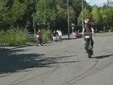 spirite72 Le MANS scoot run  stunt wheeling