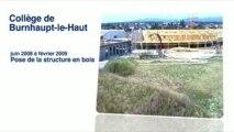 Webcam du fil des travaux du nouveau collège de Burnhaupt
