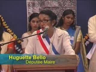 Huguette Bello discours à La Saline