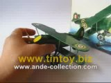 Tin Toy Wind Up Curtiss Airplane Biplane Fighter #MS454