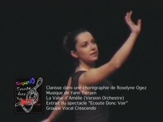 Clarisse danse sur la valse d'Amélie Poulain
