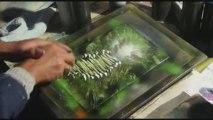 space painting tableau à la bombe peinture rapide top chrono