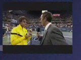Rafal Nadal Kissed by a fan (a guy) lol Rate this video