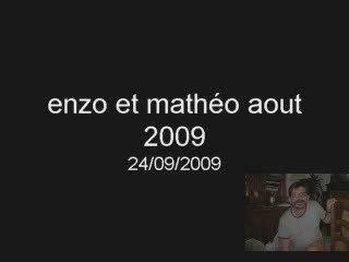 enzo et mathéo aout 2009