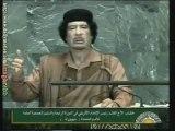 Mouammar Kadhafi à l'Assemblée générale de l'ONU (Fin)