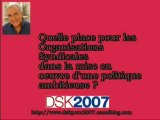 DSK- place des organisations syndicales