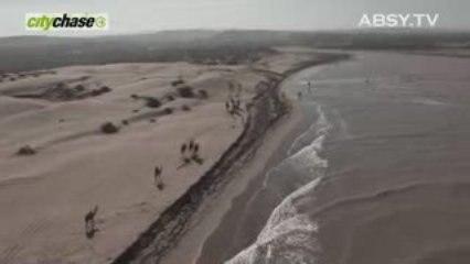 Survol d'une course de chameau à Essaouira